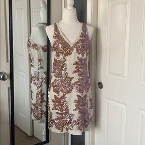 J.Crew sequins linen dress